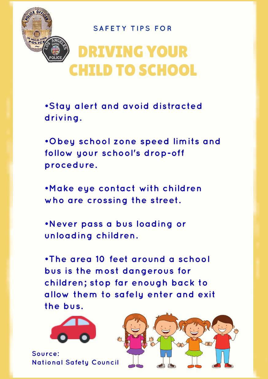 Safety Tips for Driving Your Child to School