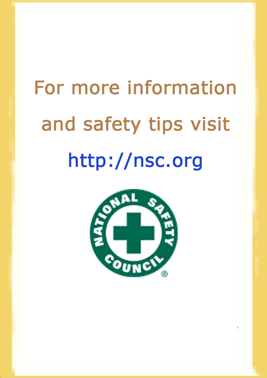 For more information contact National Safety Council