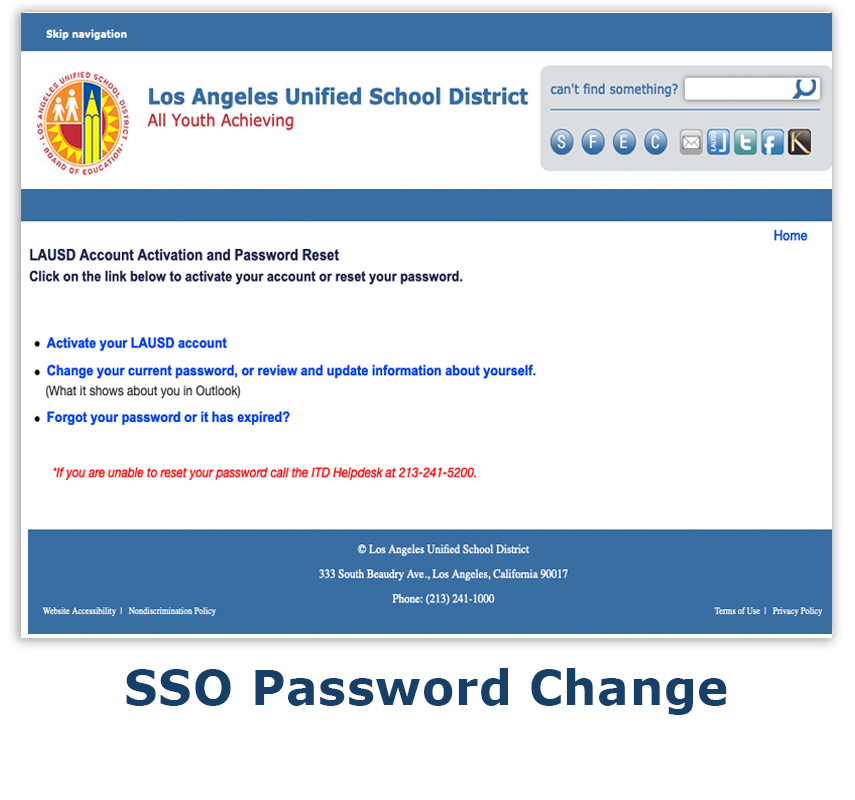 SSO Password Change