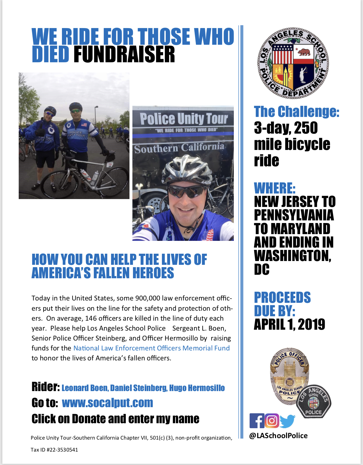 We Ride for Those Who Died Fundraiser