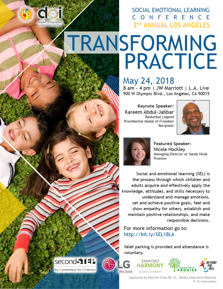 SEL Conference 2nd Annual Los Angeles Transforming Practice Flyer