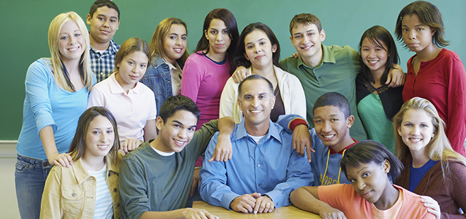 Group of Students with Teacher