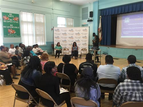 The Listen & Learn Tour continued with the Washington Prep High School Family of Schools hosted at Woodcrest ES