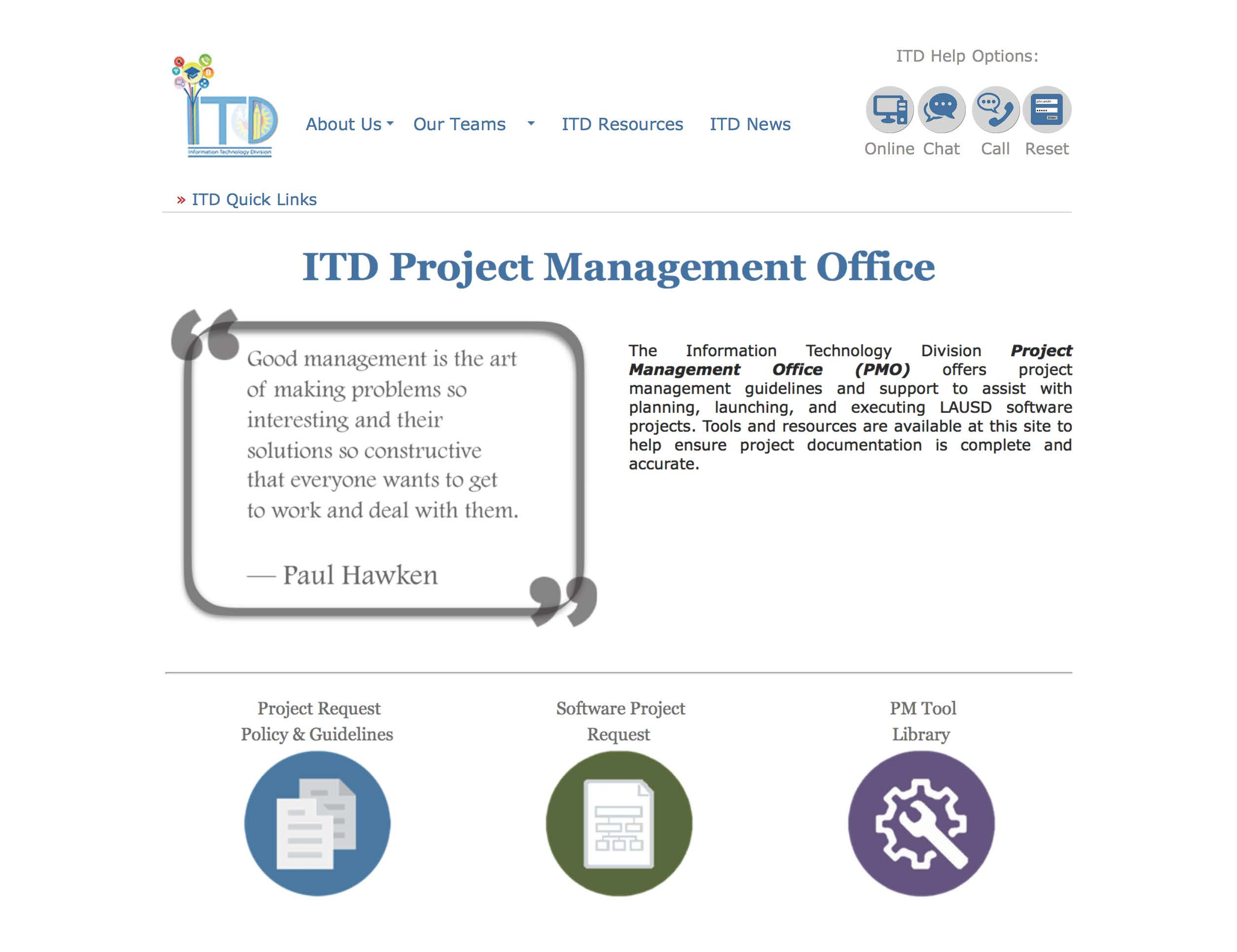 ITD Project Management Office