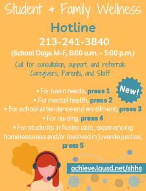 Student and Family Wellness Hotline