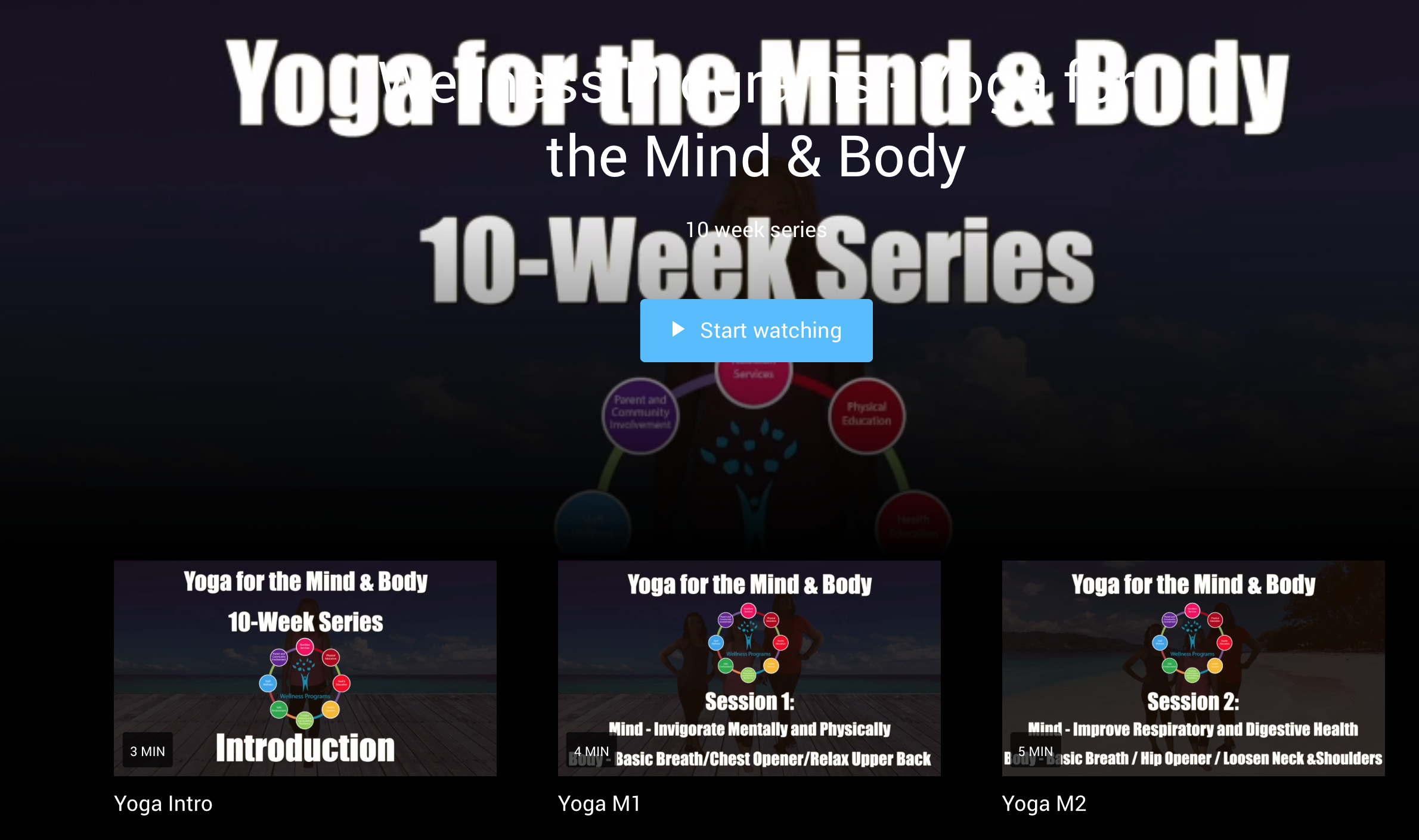 Yoga for the Mind & Body videos
