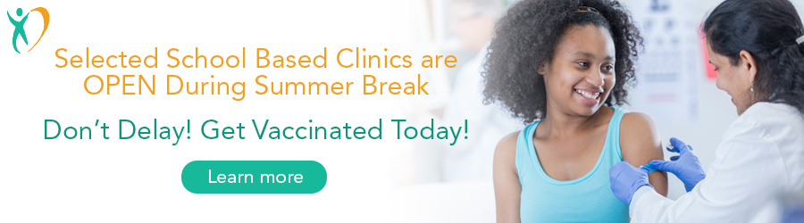 Selected School Bases Clinics are OPEN During Summer break button
