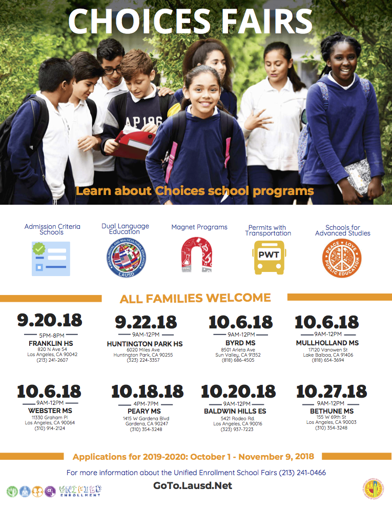 Choices Fairs: Learn about Choices school programs