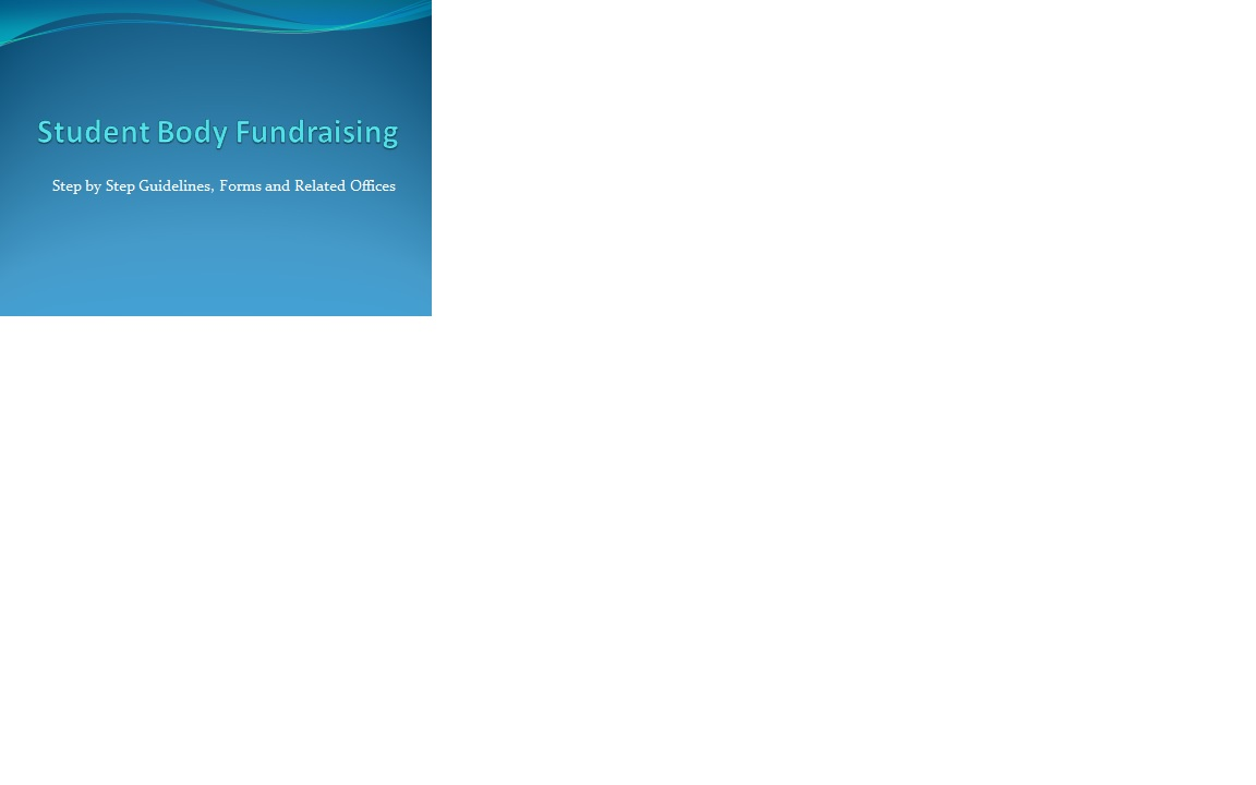 Guidelines for Fundraising