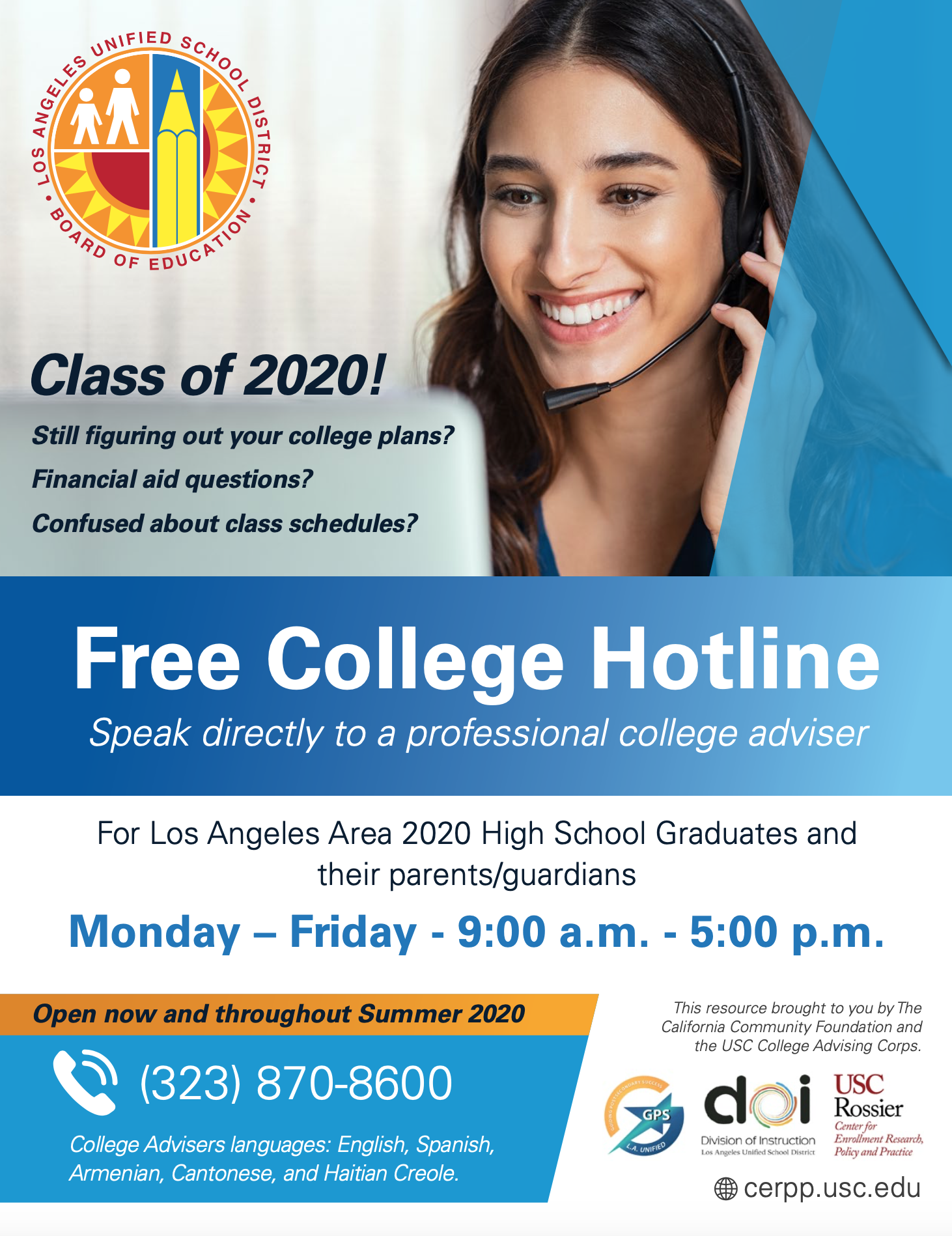Free College Hotline