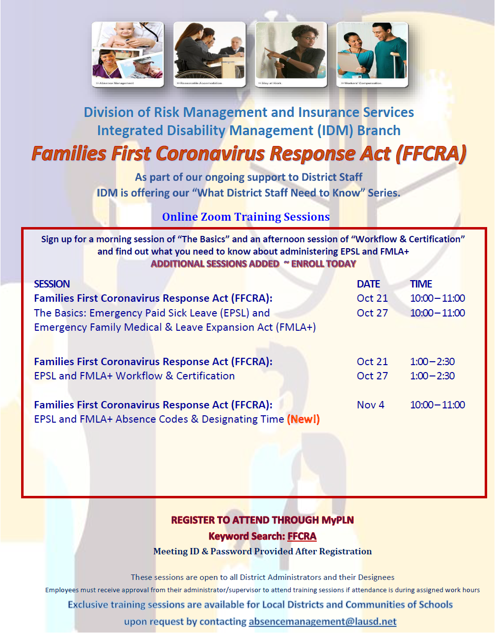 FFCRA Training Series