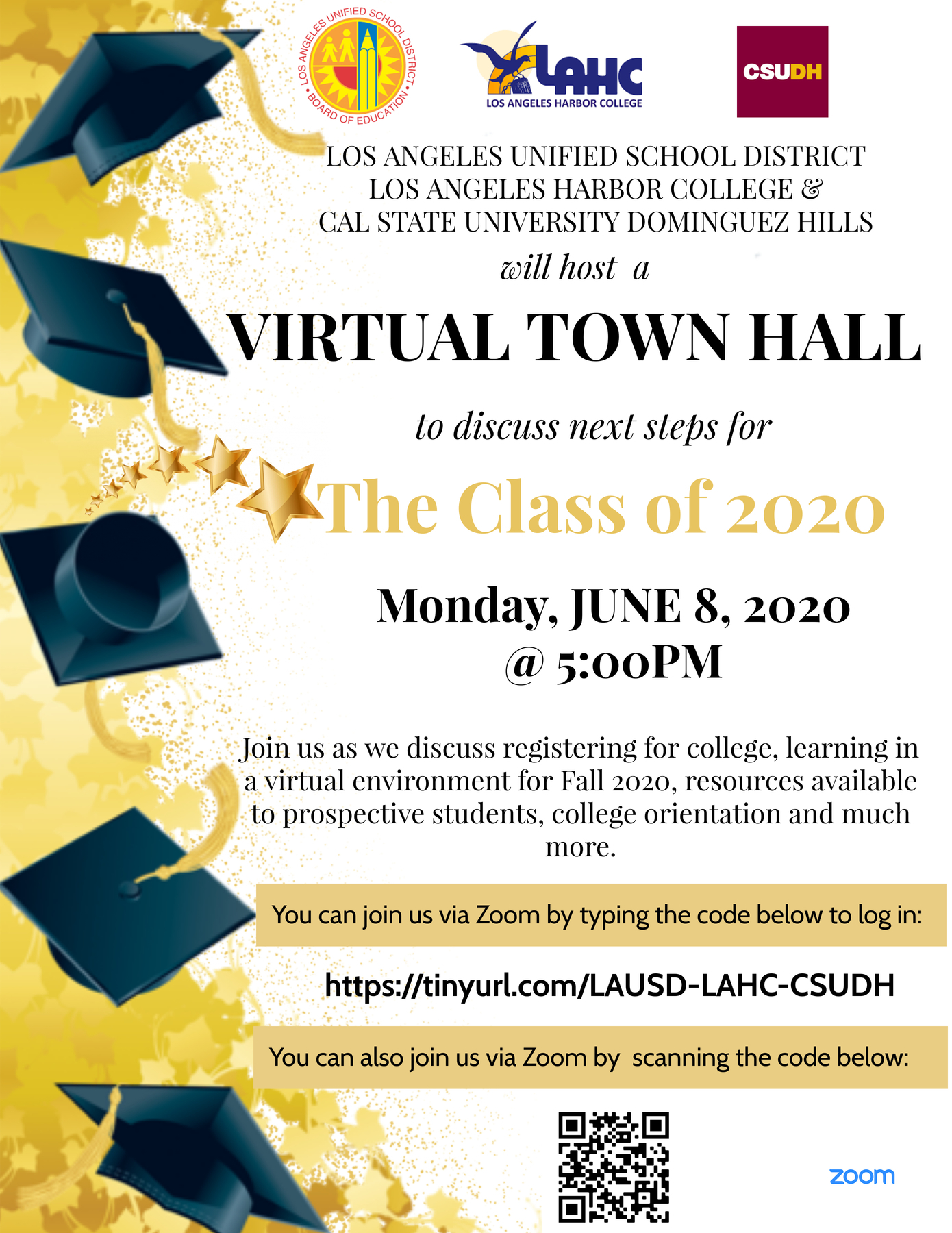 virtual town hall flyer