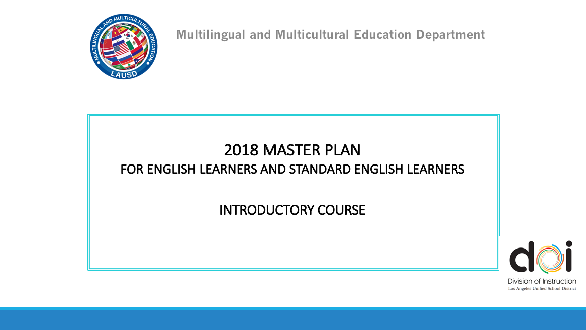 Master Plan Introductory Course