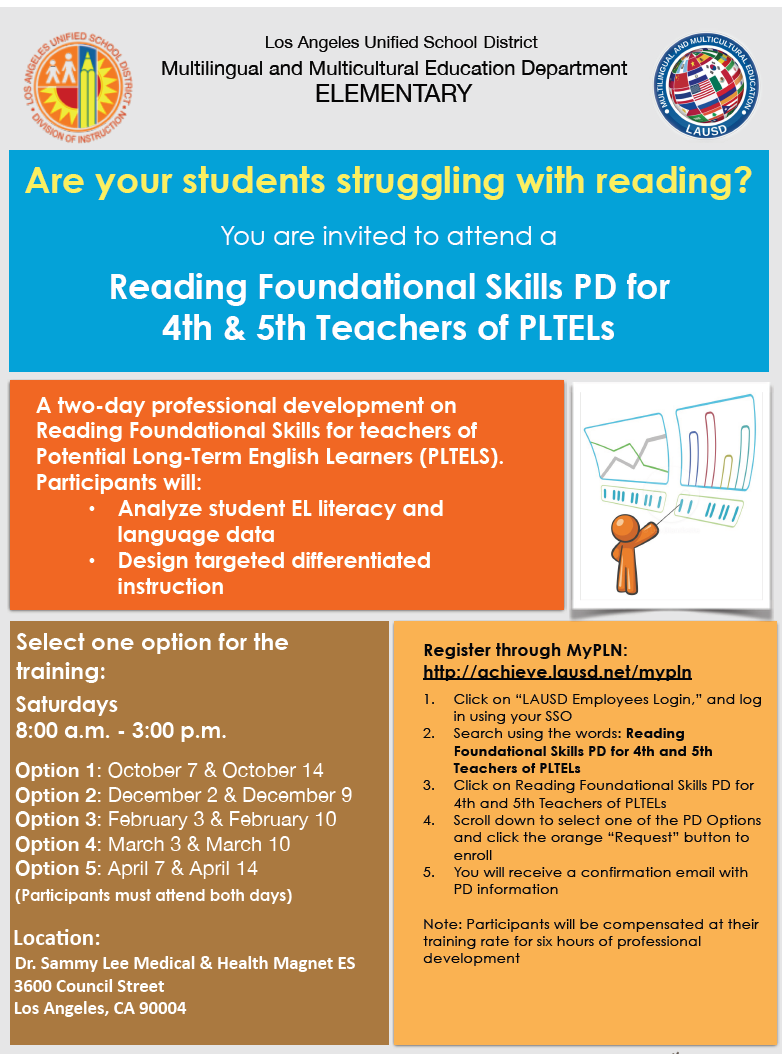 Multilingual multicultural education mmed home page pd reading foundation skills flyer pronofoot35fo Images