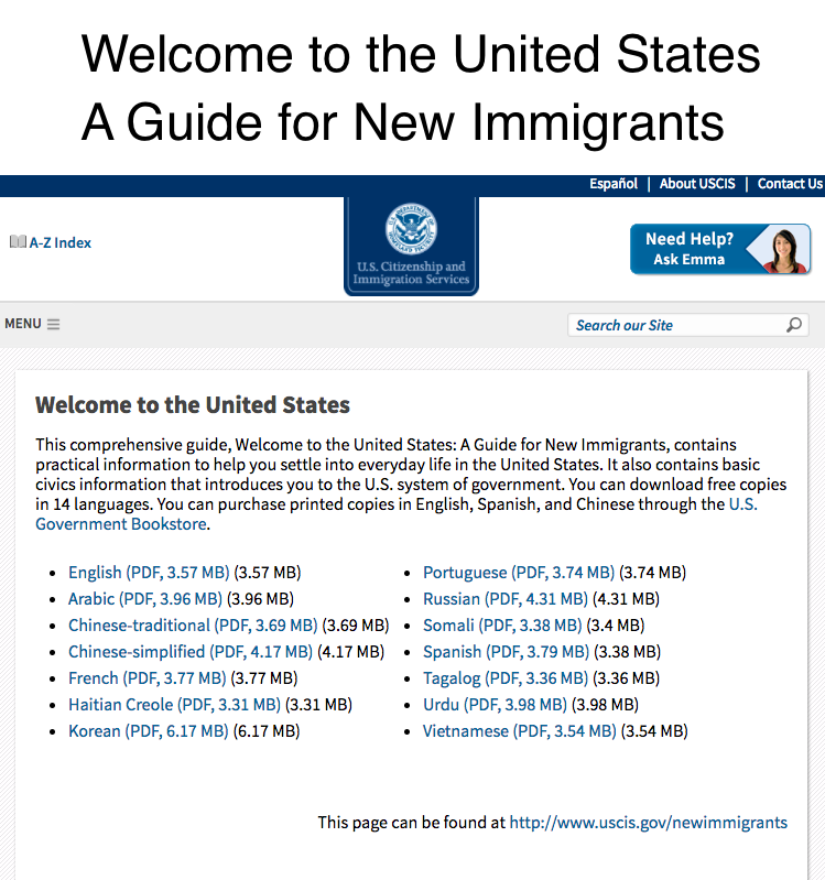 Welcome to the United States: A Guide for New Immigrants