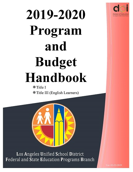 Lausd Summer School 2020.Federal And State Education Programs Budget Planning 2019 2020