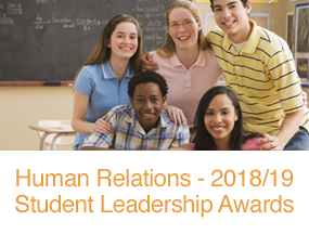 Human Relations - 2018/19 Student Leadership Awards button