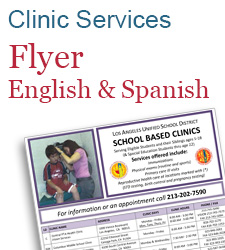Clinic Services Flyer English and Spanish