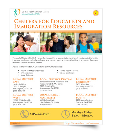 Center for Education and Immigration Resources - flyer