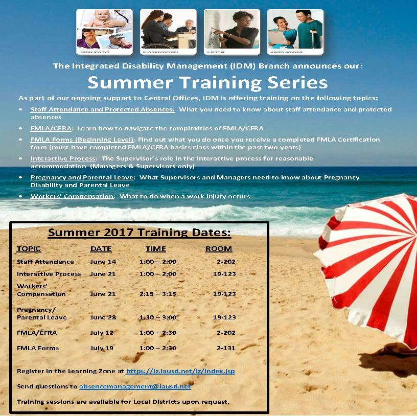 Summer Training Series