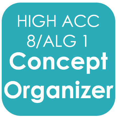 Highly Acc 8/Alg 1-Concept Organizer
