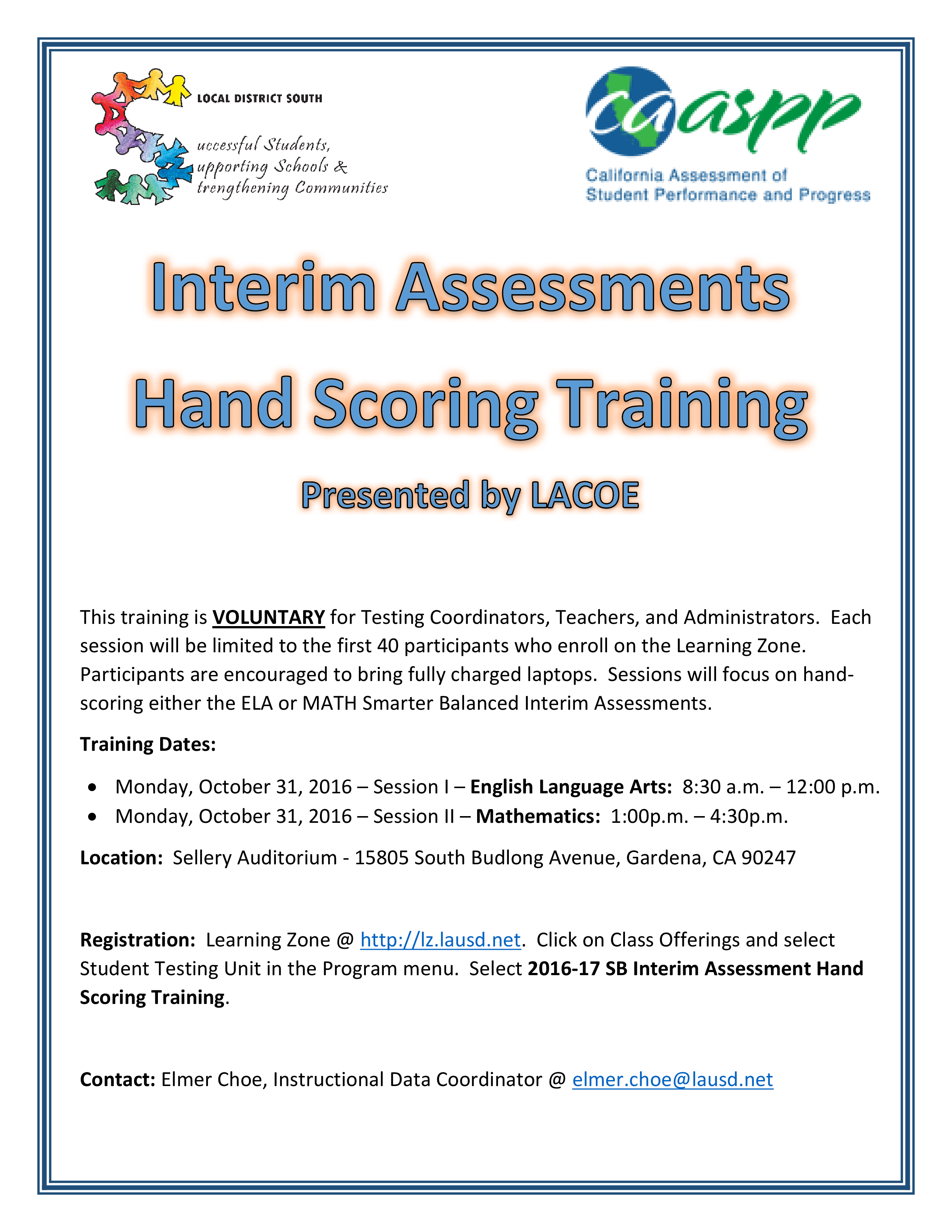 Local District South / Instructional Data